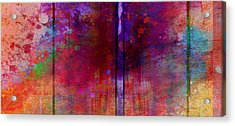 Color Burst Two Abstract Art  Acrylic Print by Ann Powell