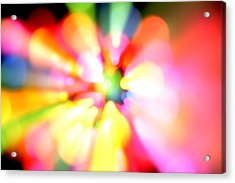 Color Explosion Acrylic Print by Les Cunliffe