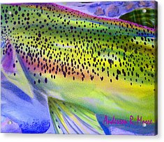 Color Me Trout Acrylic Print by Anderson R Moore