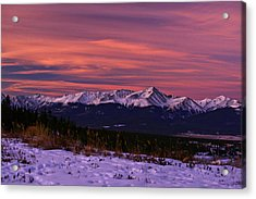 Color Of Dawn Acrylic Print by Jeremy Rhoades