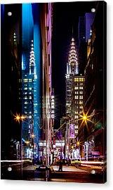 Color Of Manhattan Acrylic Print by Az Jackson