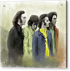Color White The Beatles Acrylic Print by Iconic Images Art Gallery David Pucciarelli