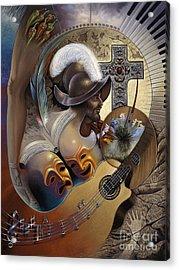 Color Y Cultura Acrylic Print by Ricardo Chavez-Mendez