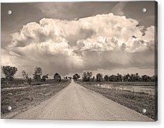 Colorado Country Road Stormin Sepia  Skies Acrylic Print by James BO  Insogna