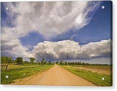 Colorado Country Road Stormin Skies Acrylic Print by James BO  Insogna