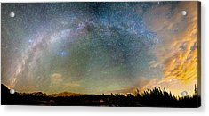 Colorado Indian Peaks Wilderness Milky Way Panorama Acrylic Print by James BO  Insogna