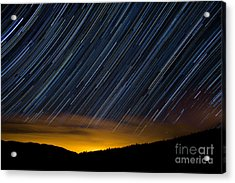 Colorado Mountain Startrails Acrylic Print by Benjamin Reed