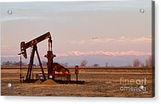 Colorado Oil Well Panorama Acrylic Print by James BO  Insogna
