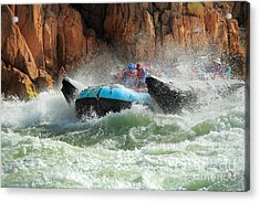 Colorado River Rafters Acrylic Print by Inge Johnsson