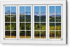 Colorado Rocky Mountains White Window Frame View Acrylic Print by James BO  Insogna