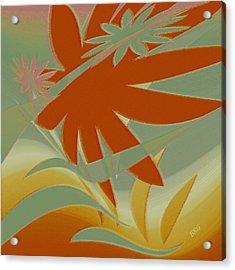 Colored Jungle Orange Splash Acrylic Print by Ben and Raisa Gertsberg