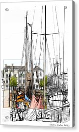 Colored Past Acrylic Print by Stefan Kuhn