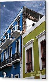 Colores Del Edificio Acrylic Print by John Rizzuto