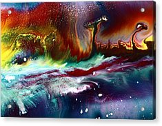 Colorful Abstract Art Vivid Colors Rainbow Landscape By Kredart  Acrylic Print by Serg Wiaderny
