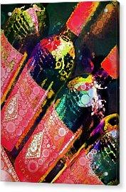 Colorful Bottles Acrylic Print by Cindy Edwards