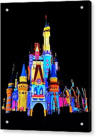 Colorful Castle Acrylic Print by Benjamin Yeager