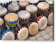 Colorful Congas Acrylic Print by Carlos Caetano
