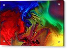 Colorful Contemporary Abstract Art Fusion  Acrylic Print by Kredart