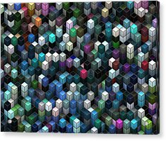 Colorful Cubes Acrylic Print by Jack Zulli