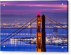 Colorful Dawn - San Francisco Acrylic Print by David Yu