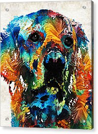 Colorful Dog Art - Heart And Soul - By Sharon Cummings Acrylic Print by Sharon Cummings