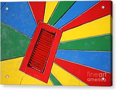 Colorful Drain Acrylic Print by James Brunker