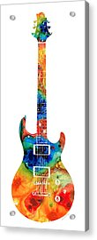Colorful Electric Guitar 2 - Abstract Art By Sharon Cummings Acrylic Print by Sharon Cummings
