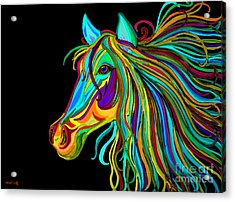Colorful Horse Head 2 Acrylic Print by Nick Gustafson