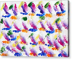 Colorful Kisses Acrylic Print by Andee Design