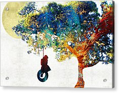 Colorful Landscape Art - The Dreaming Tree - By Sharon Cummings Acrylic Print by Sharon Cummings