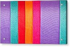 Colorful Nylon Acrylic Print by Tom Gowanlock