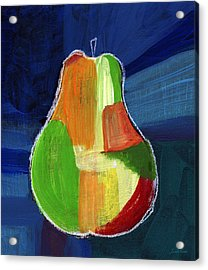 Colorful Pear- Abstract Painting Acrylic Print by Linda Woods