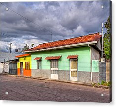 Colorful Streets Of Costa Rica - Liberia Acrylic Print by Mark E Tisdale