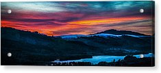 Colorful Twilight Panorama Acrylic Print by Mike Lee