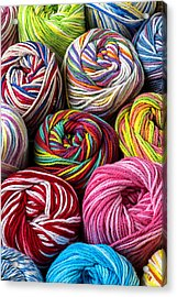 Colorful Yarn Acrylic Print by Garry Gay