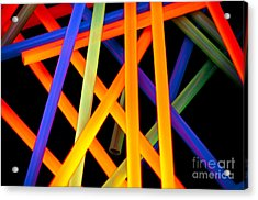 Coloring Between The Lines Acrylic Print by Charles Dobbs