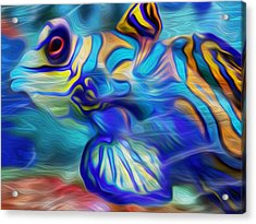 Colors Below Acrylic Print by Jack Zulli