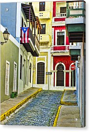 Colors Of Old San Juan Puerto Rico Acrylic Print by Carter Jones