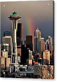 Colors Of Seattle Acrylic Print by Benjamin Yeager