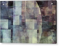 Colors Of Twilight Abstract Art Acrylic Print by Ann Powell