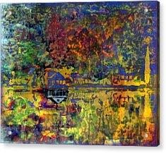 Colors On The Lake Acrylic Print by YoMamaBird Rhonda
