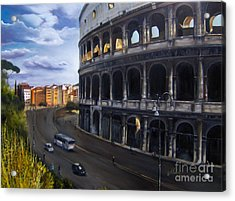 Colossus Acrylic Print by Leah Wiedemer