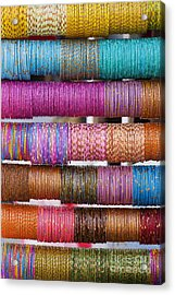 Colourful Indian Bangles Acrylic Print by Tim Gainey