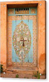 Colourful Moroccan Entrance Door Sale Rabat Morocco Acrylic Print by Ralph A  Ledergerber-Photography
