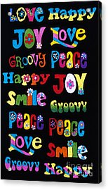 Colourful Words Acrylic Print by Tim Gainey