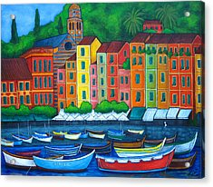 Colours Of Portofino Acrylic Print by Lisa  Lorenz