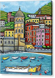 Colours Of Vernazza Acrylic Print by Lisa  Lorenz