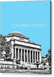 Columbia University - Sky Blue Acrylic Print by DB Artist