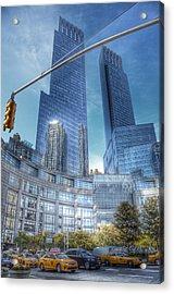New York - Columbus Circle - Time Warner Center Acrylic Print by Marianna Mills