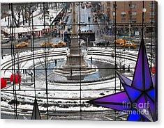 Columbus Circle View Acrylic Print by Andrea Simon